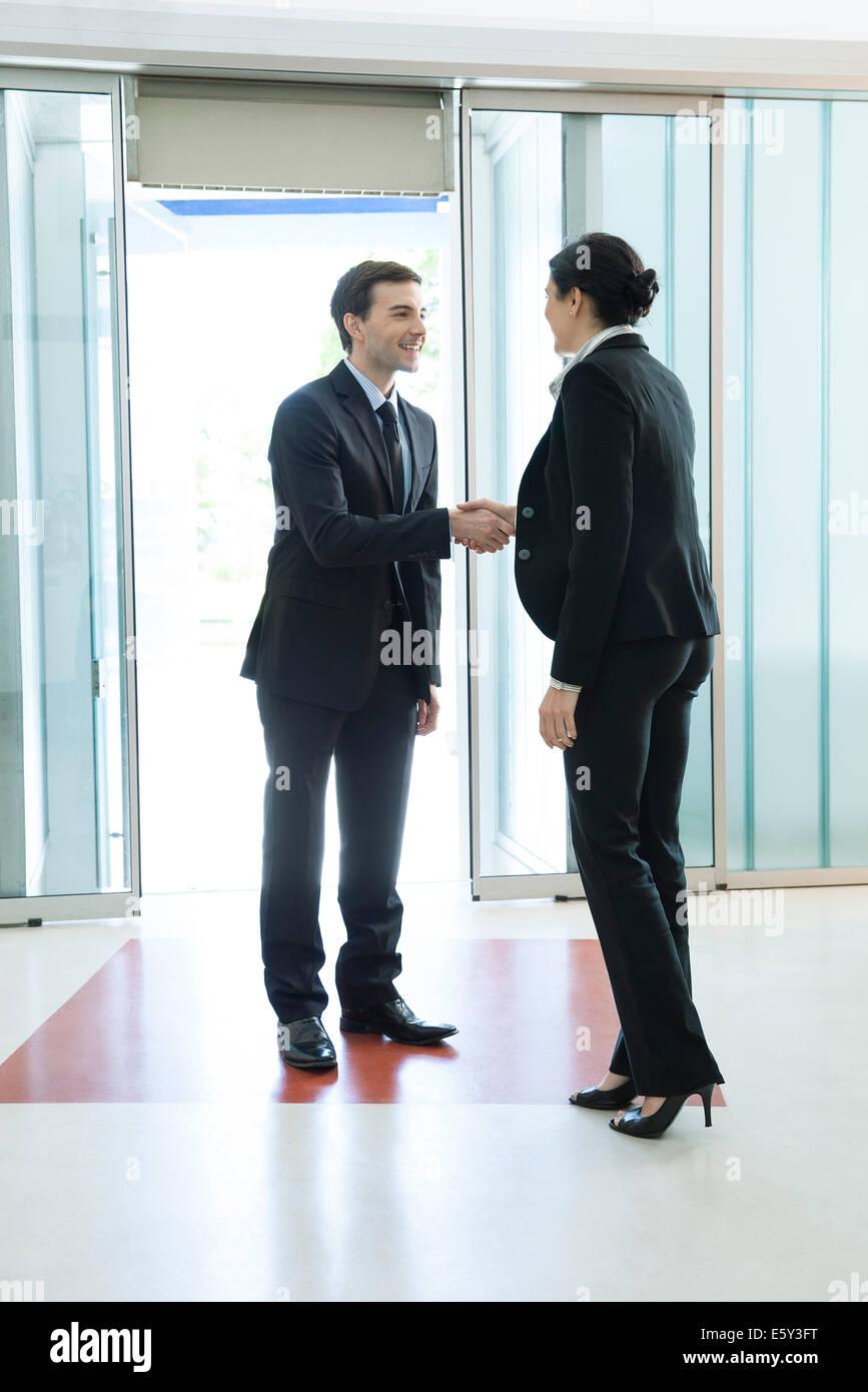 Business associates shaking hands - Stock Image