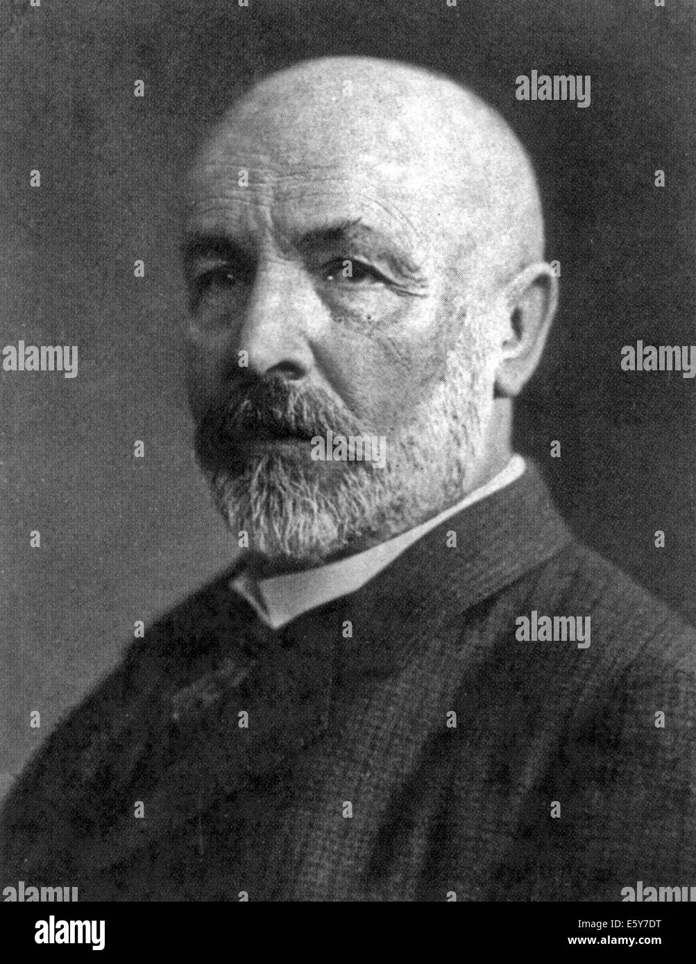 GEORG CANTOR (1845-1918) German mathematician who invented set theory - Stock Image