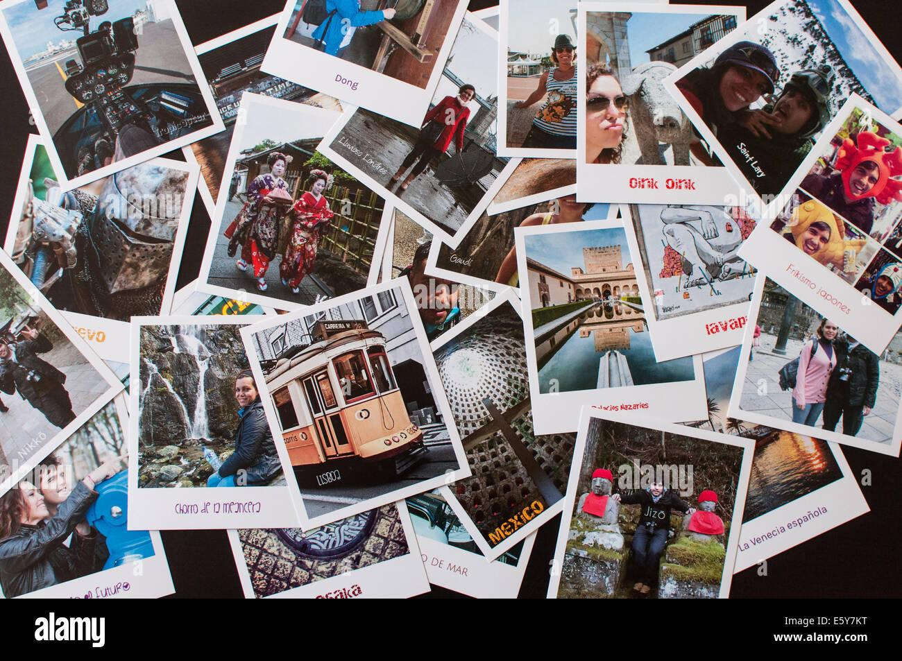 A lot of pics - Stock Image