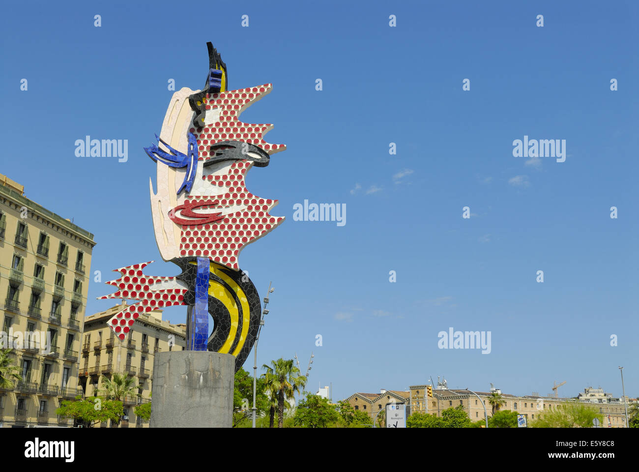 Joan Miro (Joan Miró) sculpture, Barcelona, Spain Stock Photo ...