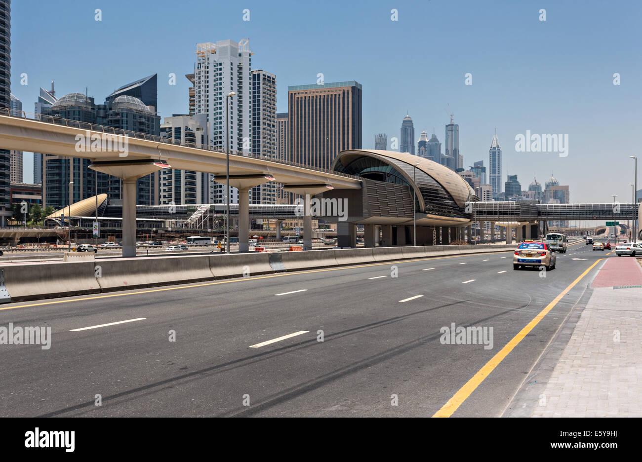 Dubai Metro Station - Stock Image