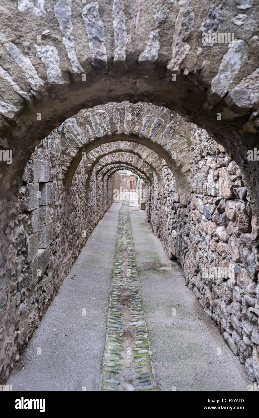 Villefranche-de-conflent,Languedoc-Roussillon,France - Stock Image
