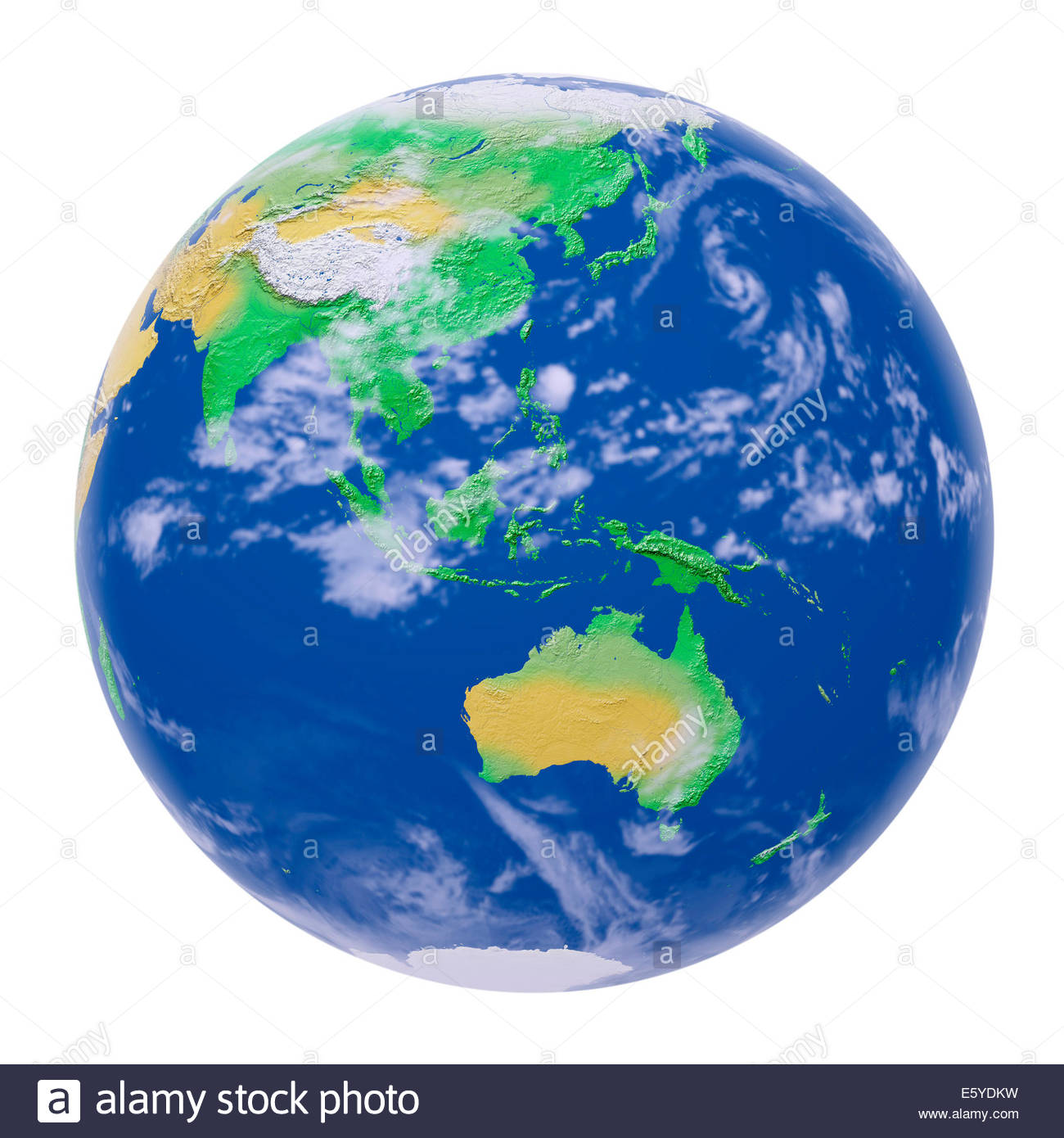 World map relief centered on stock photos world map relief simulated relief view of the globe of the earth from space centered on asia and australia gumiabroncs Choice Image