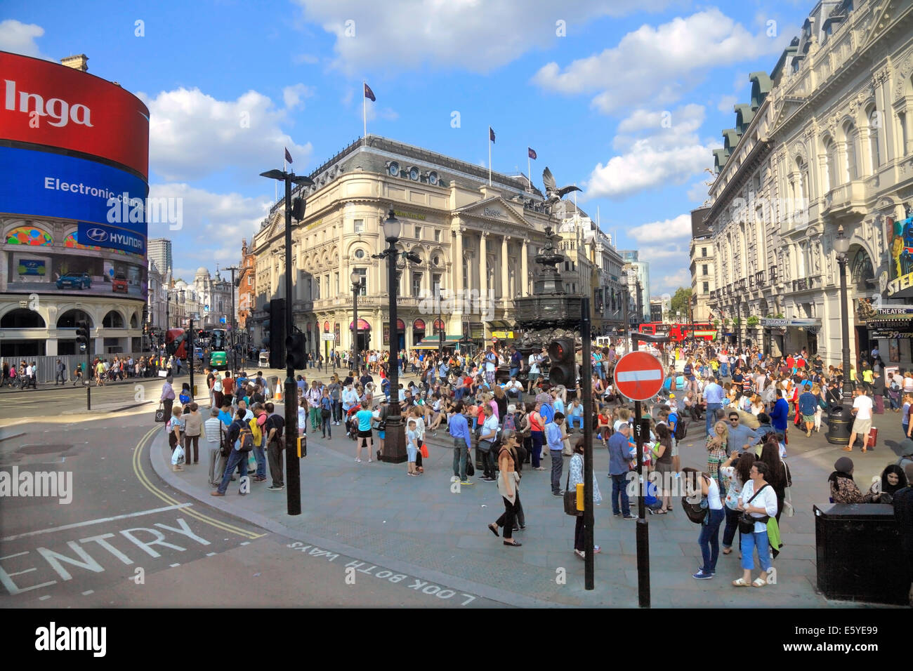 Piccadilly Circus and Statue of Eros  in London's West End - Stock Image