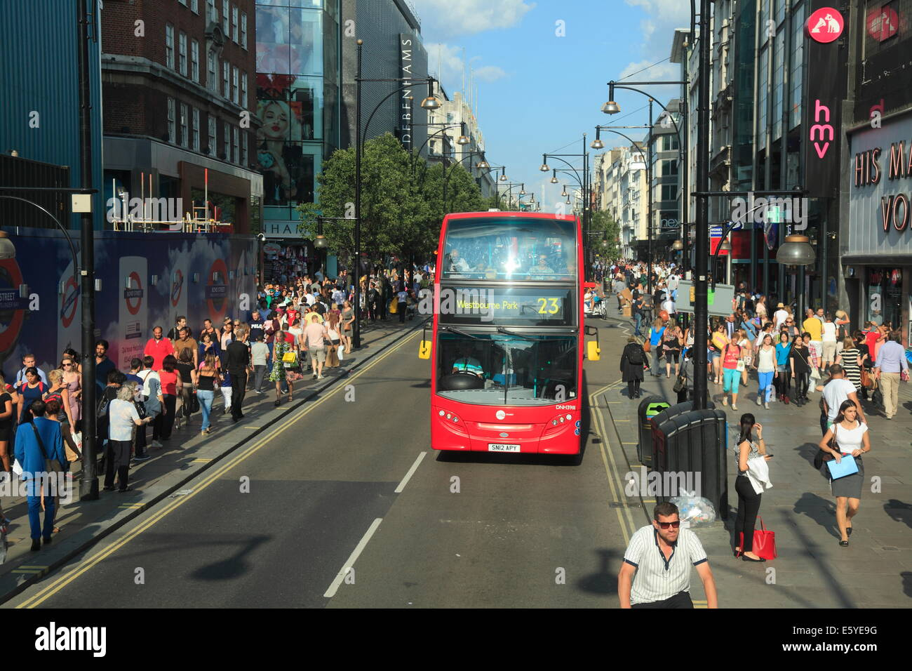 Oxford Street in London's West End - Stock Image