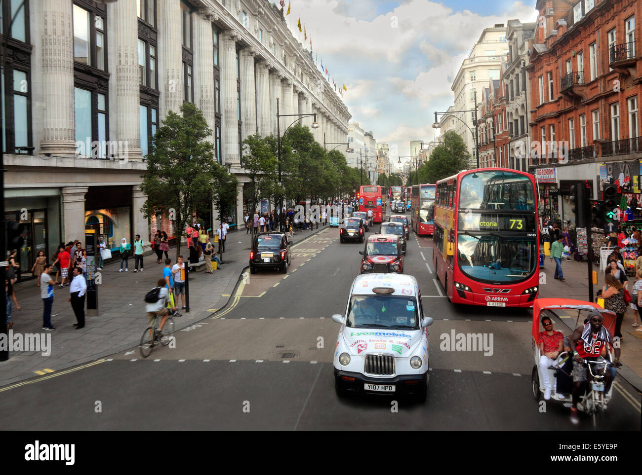 Selfridges Store in Oxford Street London West End - Stock Image
