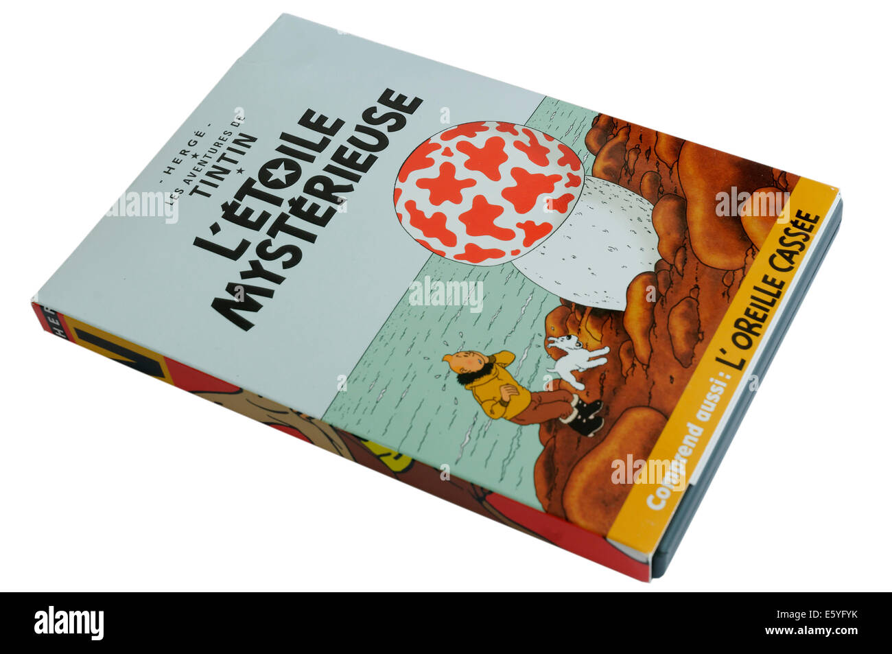 Tintin DVD L'Etoile Mysterieuse (The Shooting Star) - Stock Image