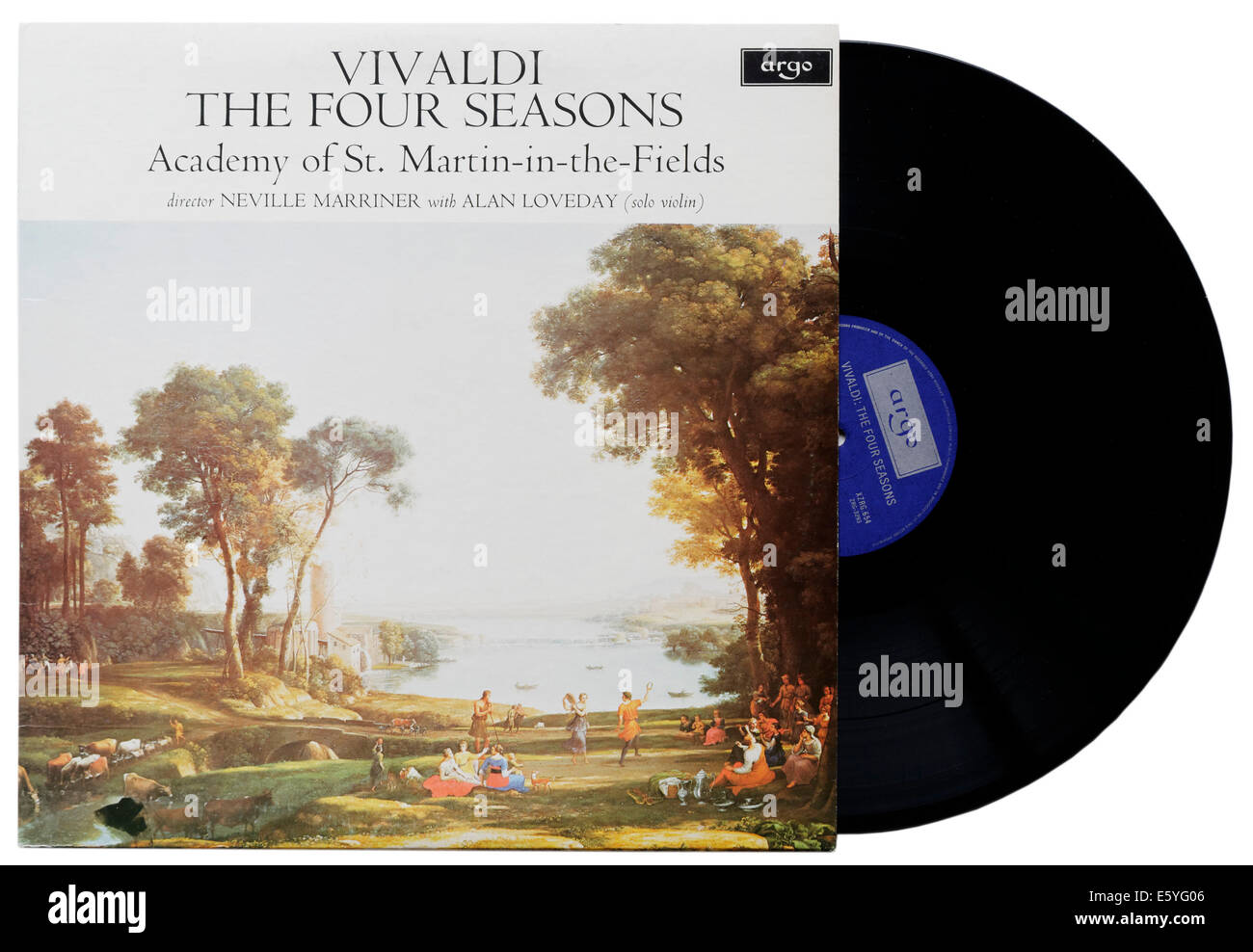 Vivaldi's Four Seasons on vinyl, Sir Neville Marriner conducting the Academy of St Martin in the Fields - Stock Image