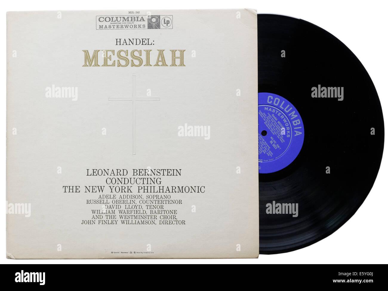 Handel's Messiah album, Leonard Bernstein conducting the New York Philharmonic - Stock Image