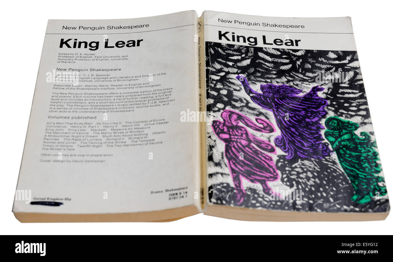 King Lear by William Shakespeare - Stock Image