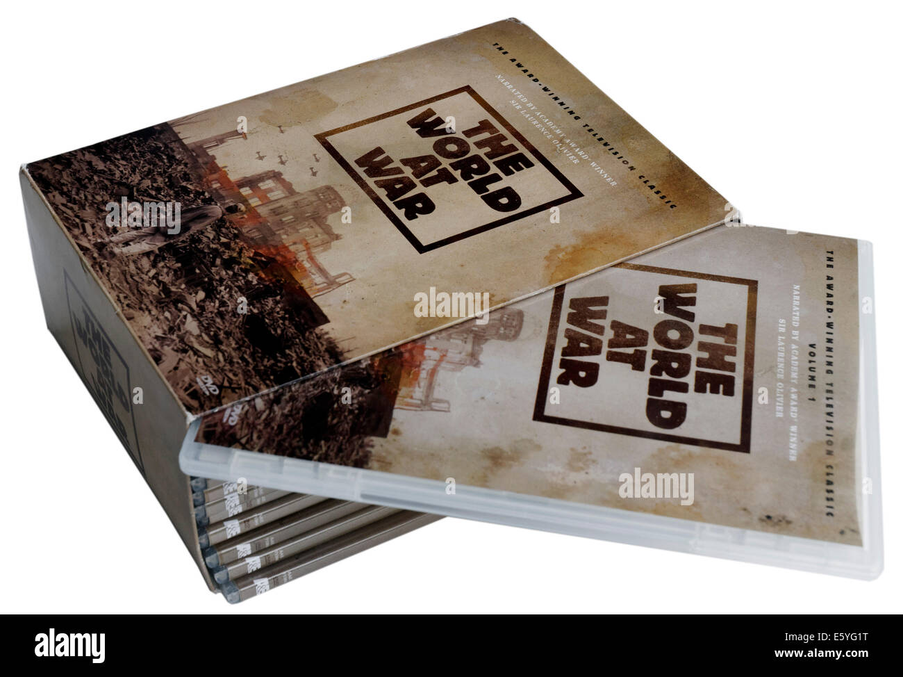 The legendary Thames Television series The World at War documentary on DVD - Stock Image
