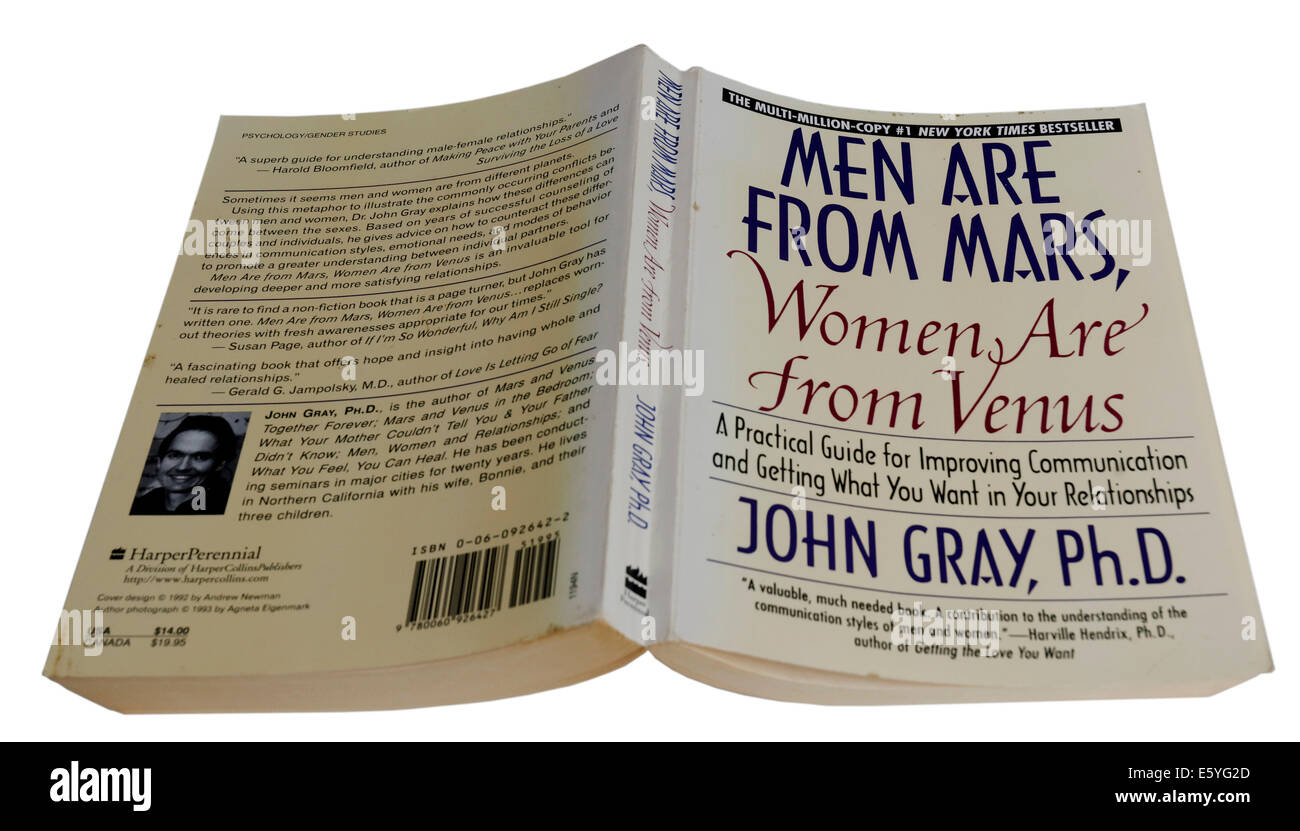 Men Are From Mars, Women Are From Venus by John Gray - Stock Image