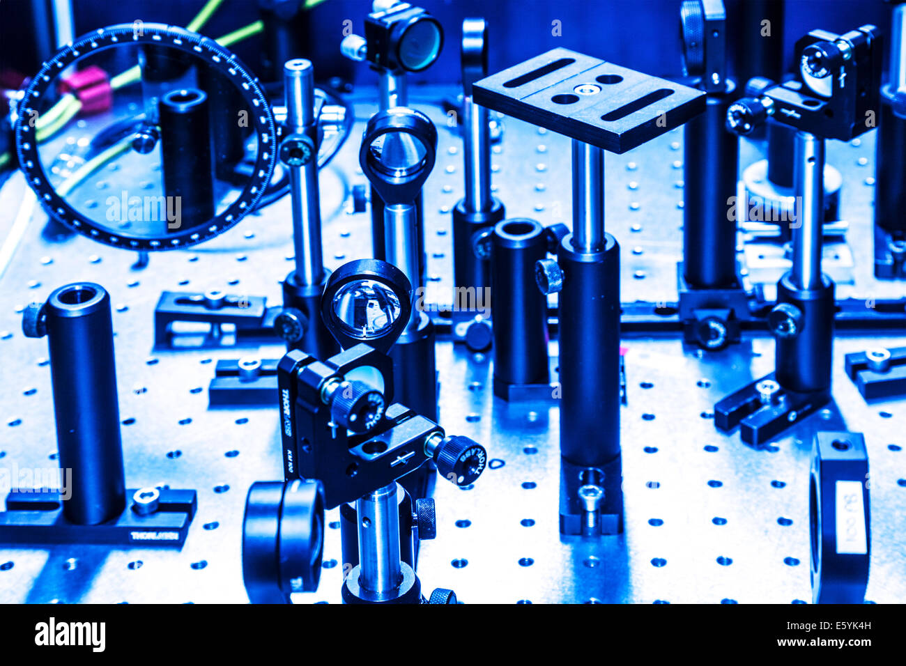 A laser imaging system set up in a science research laboratory. - Stock Image