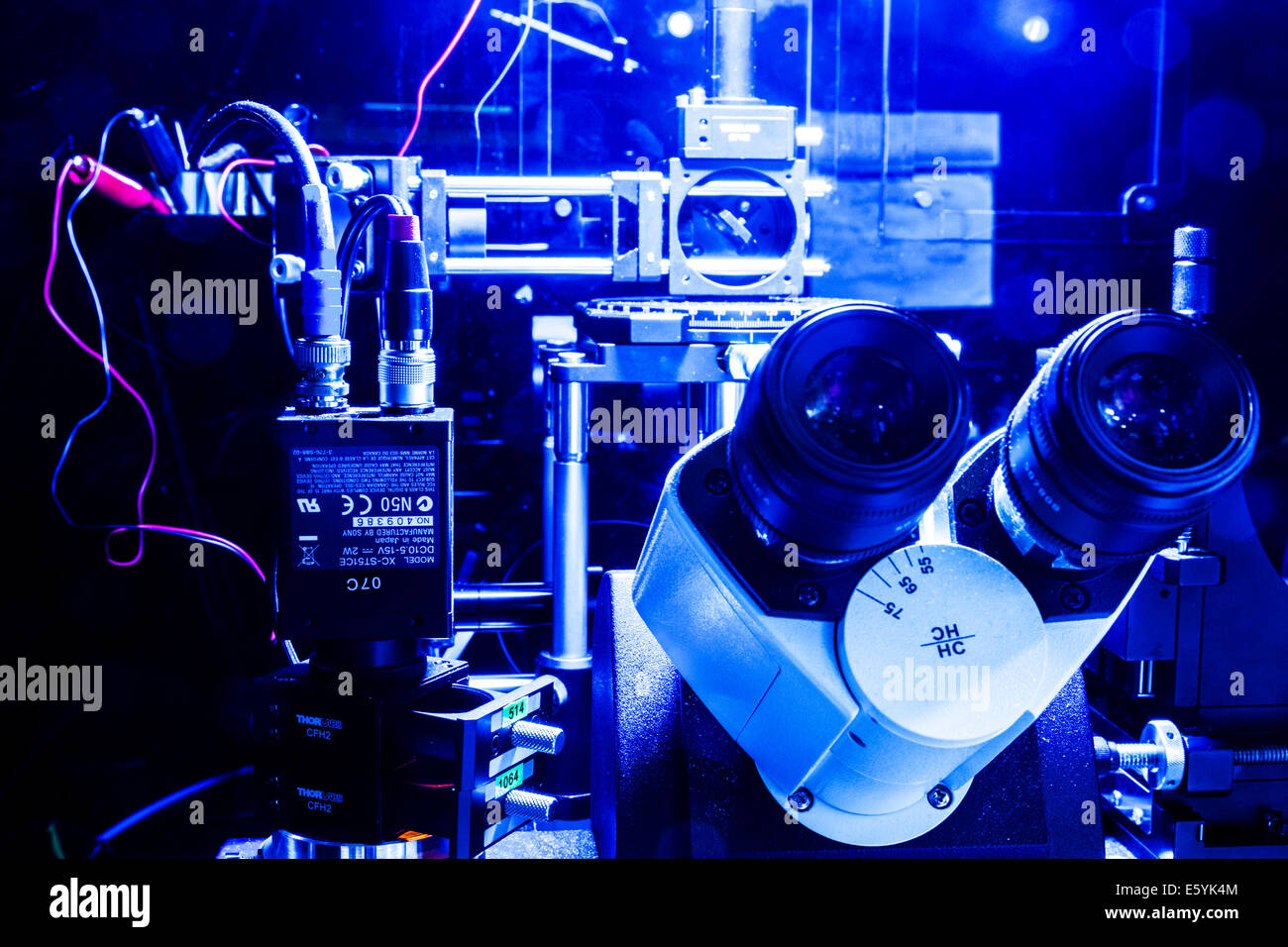 A laser scanning microscope and imaging system set up in a science research laboratory. - Stock Image