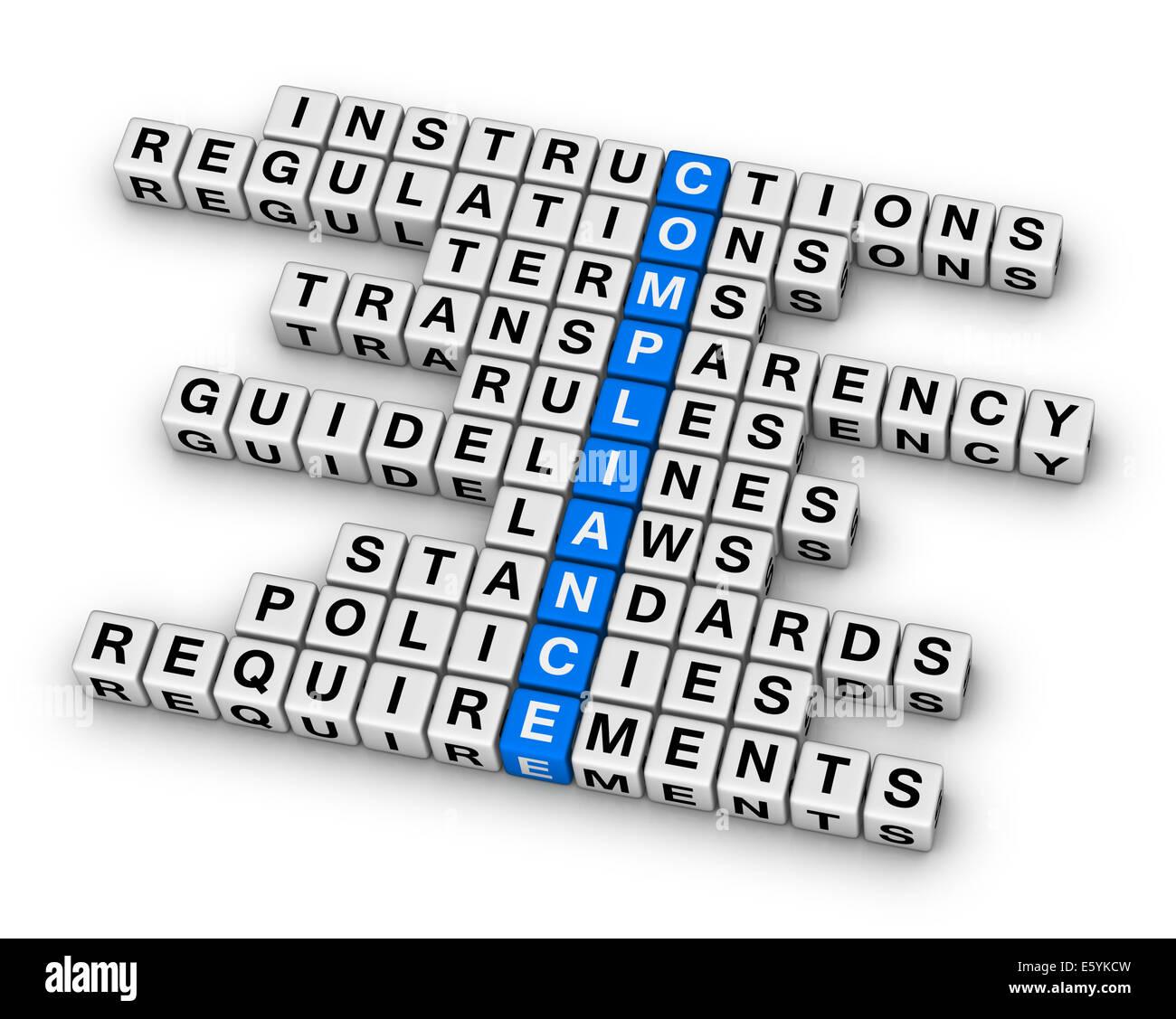 compliance crossword puzzle Stock Photo: 72522713 - Alamy