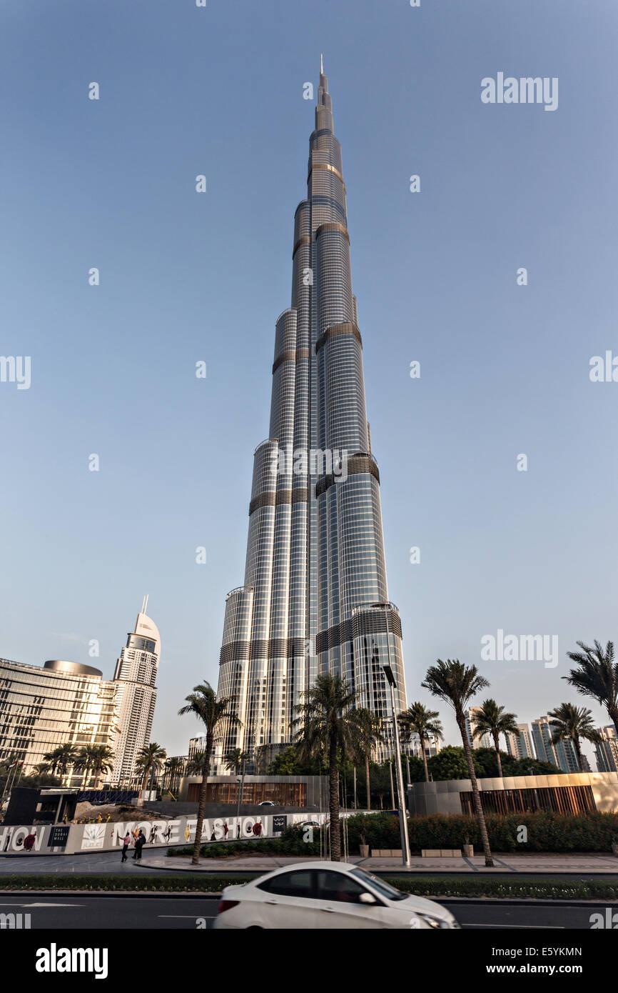 Burj Khalifa at dusk Stock Photo