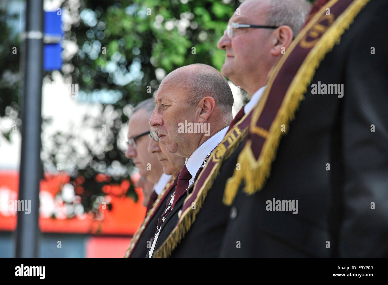 Derry, Londonderry, Northern Ireland. 9th August, 2014.  Apprentice Boys annual parade. Jim Brownlee, governor of - Stock Image