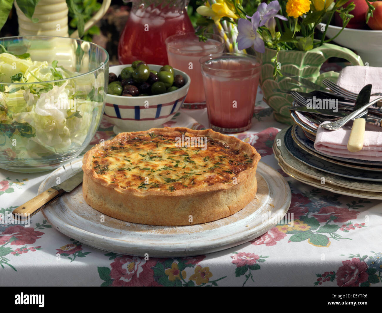 Quiche - Stock Image