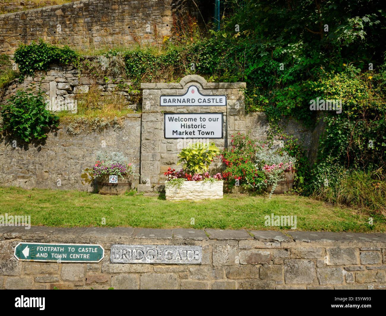 Barnard Castle, Teesdale, County Durham - Stock Image