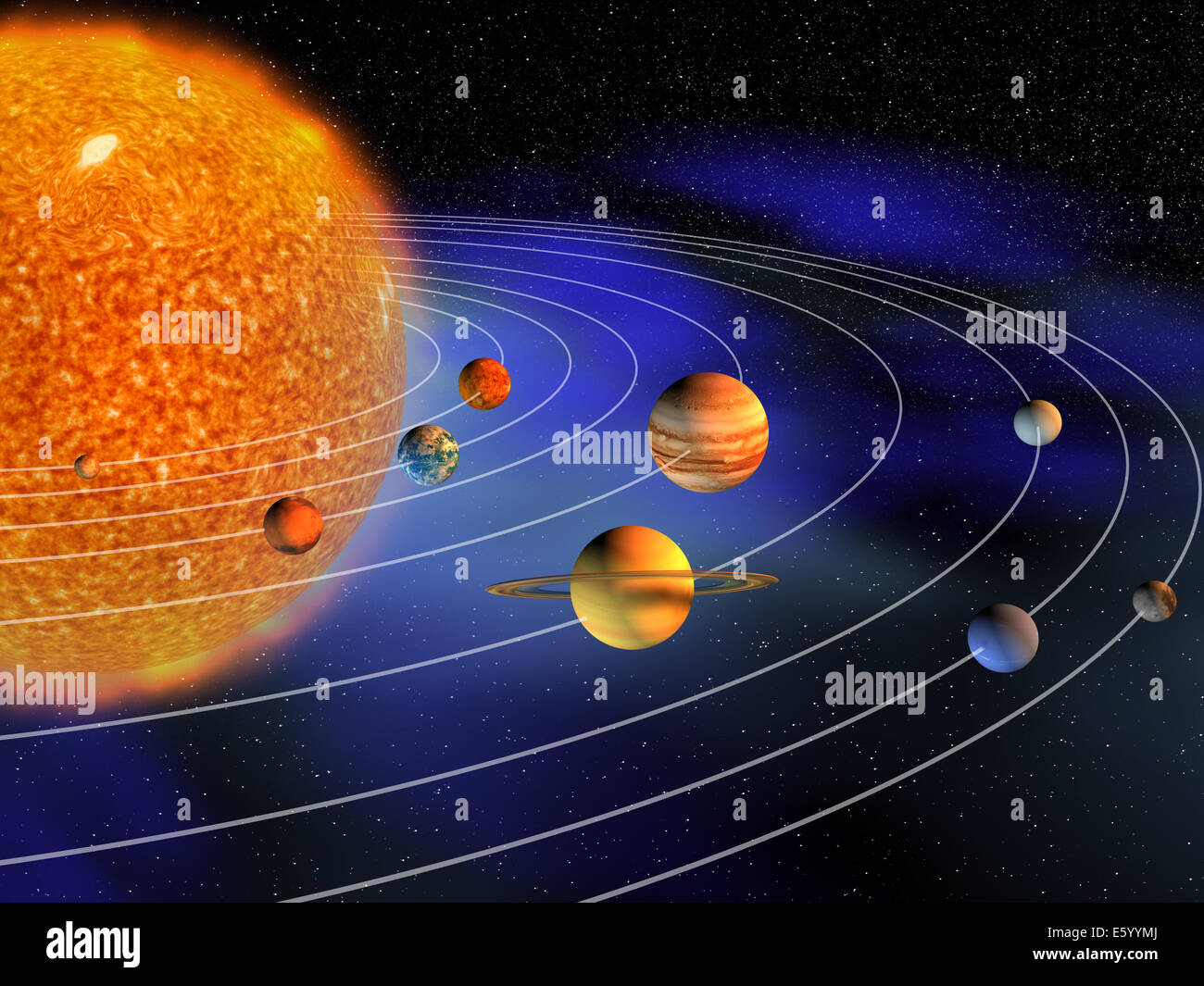 Diagram of the planets stock photos diagram of the planets stock diagram of planets in solar system 3d render stock image ccuart Choice Image