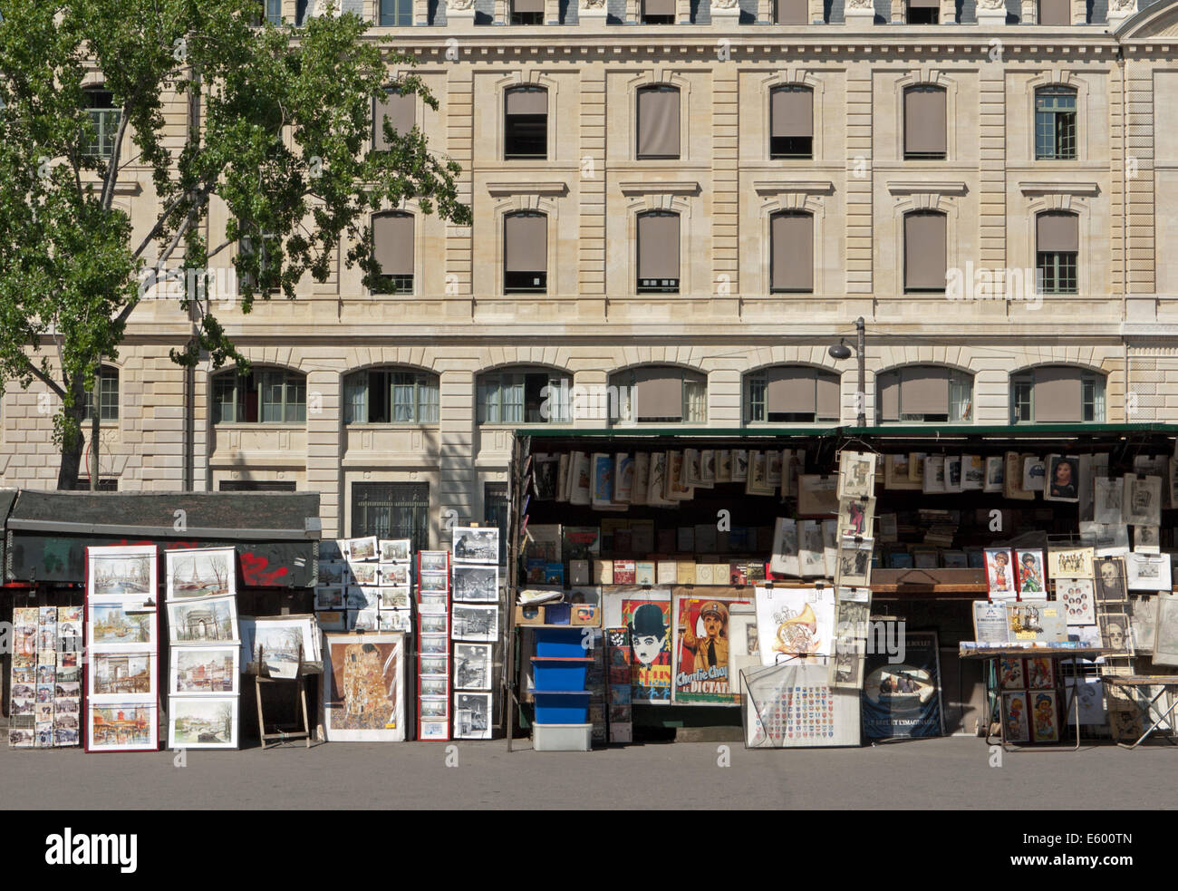 Bookseller on the bank of the Seine, Paris, France - Stock Image