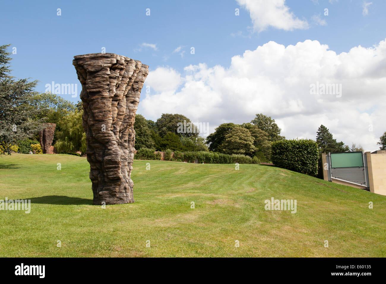 Sculpture titled  for Martin F. by Ursula von Rydingsvard  at Yorkshire Sculpture Park - Stock Image