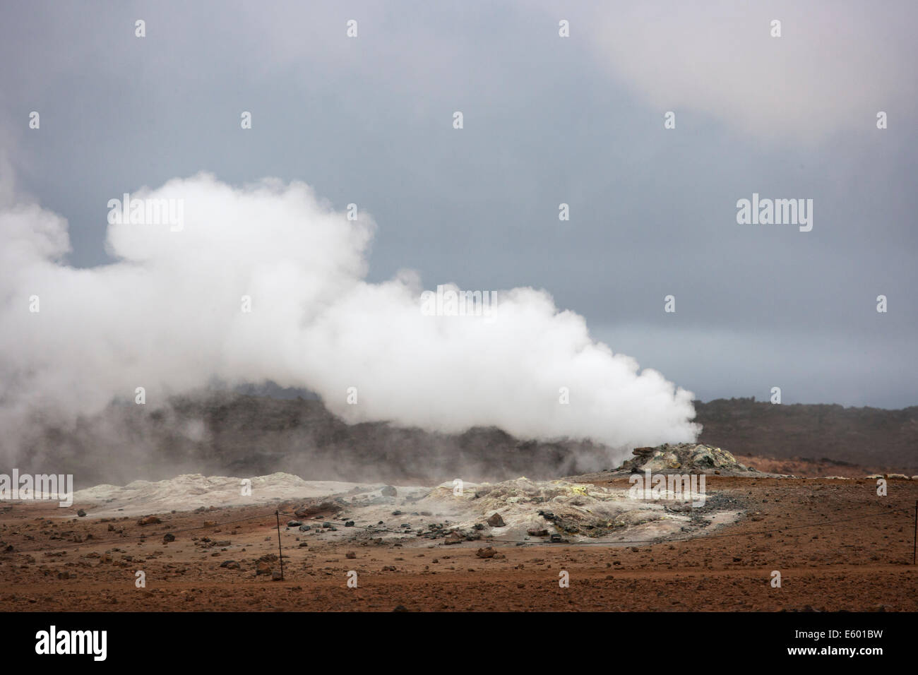 Volcanic Steam Vent Lake Myvatn area Iceland LA007117 Stock Photo