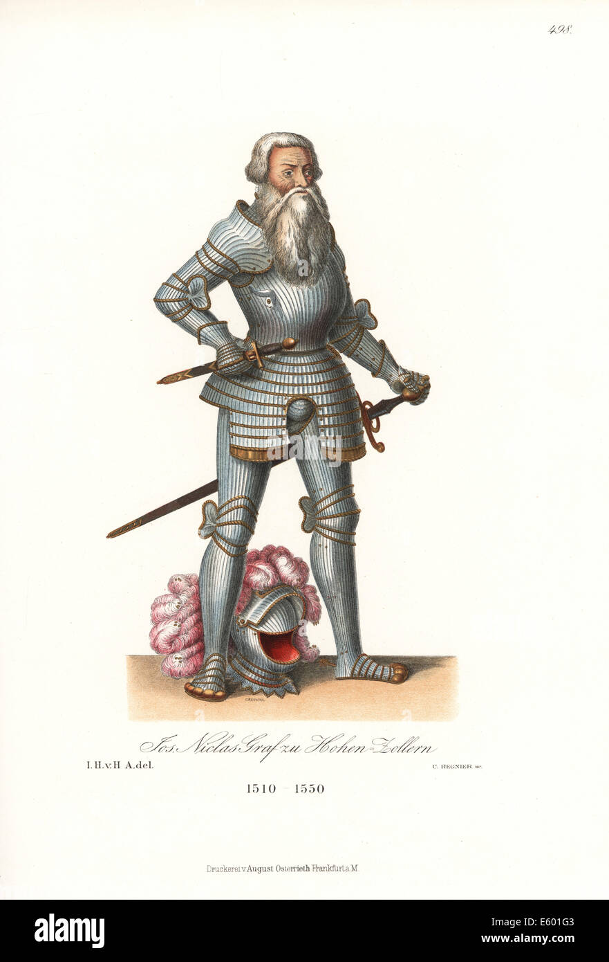 Johann or Jos Niklaus, Count of Hohenzollern, 1513-1558. - Stock Image
