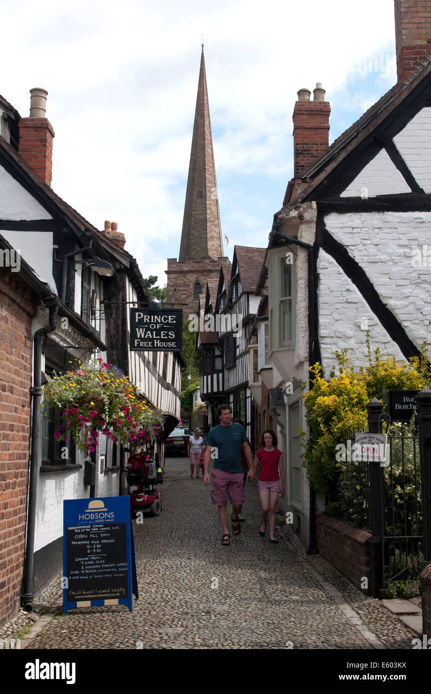 Church Lane, Ledbury, Herefordshire, England, UK - Stock Image