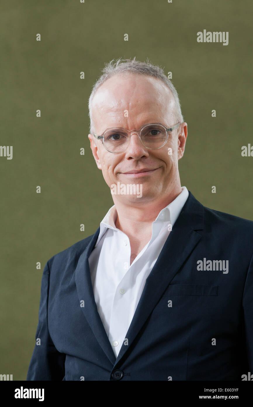 Hans Ulrich Obrist, author, at the Edinburgh Book Festival 2014 - Stock Image
