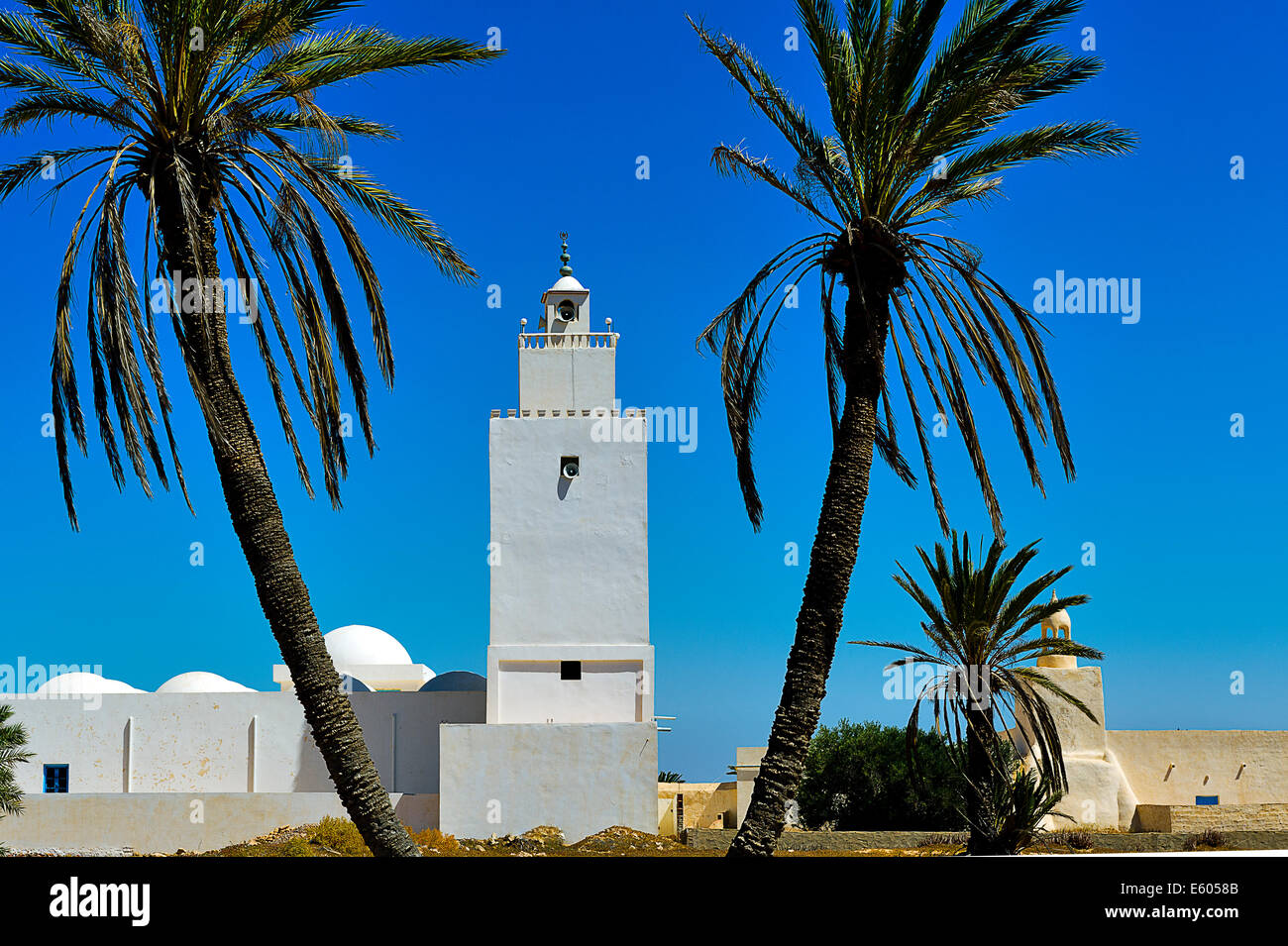 Africa, North Africa, Maghreb, South Tunisia, Djerba island. Guellala. Mosque. - Stock Image