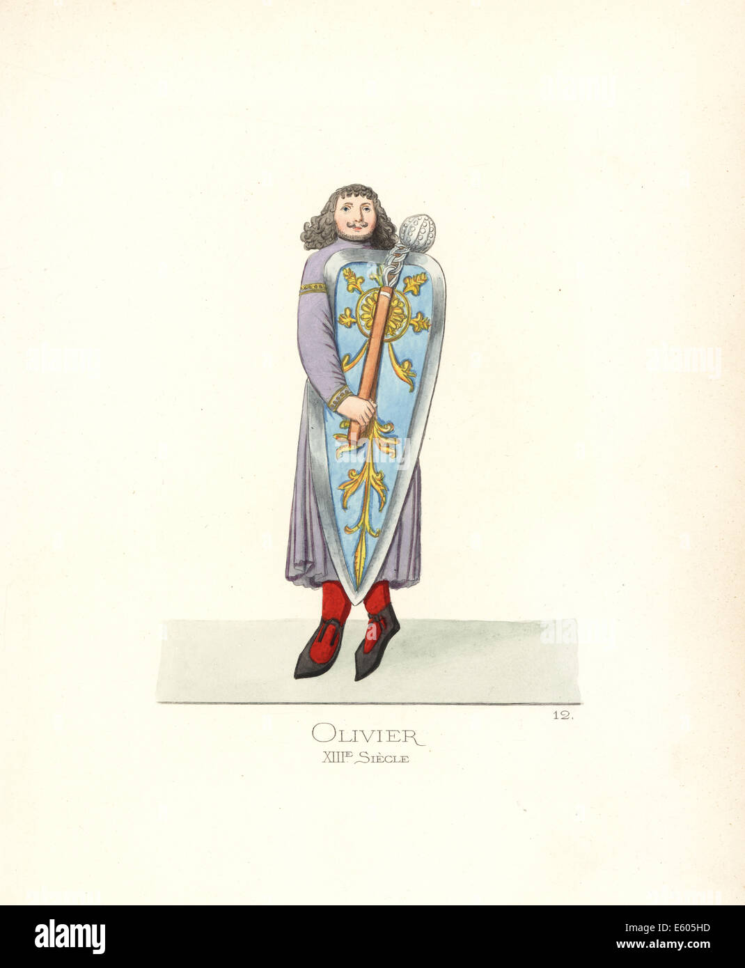 The paladin Oliver from the Song of Roland, 13th century. - Stock Image