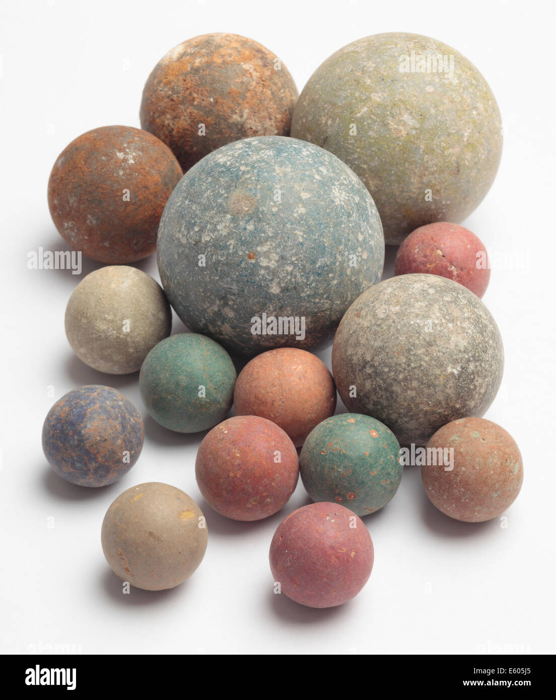 Old Clay Marbles - Stock Image