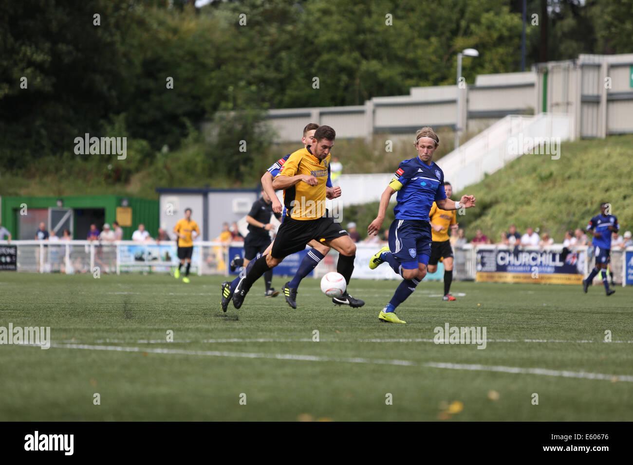 Maidstone, UK. 9th August, 2014. Ryman League premier division gallagher stadium, Maidstone UTD VS Metropolitan - Stock Image