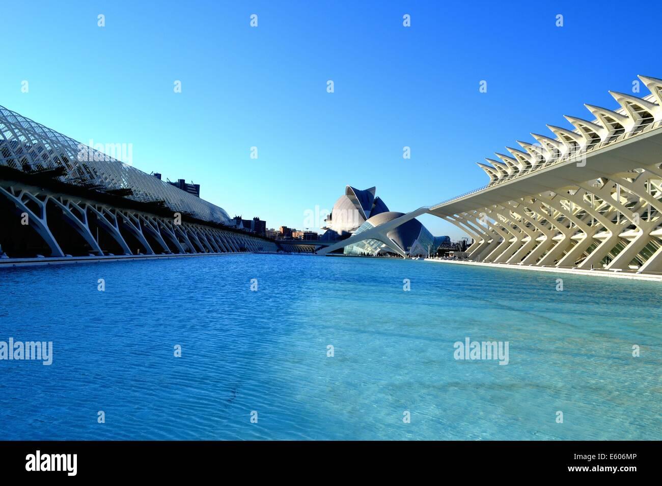 Museo de las Ciencias Príncipe Felipe in Valencia - Stock Image