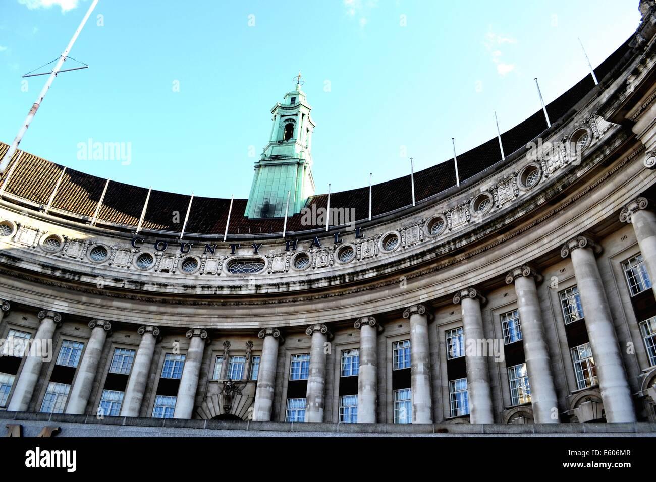 GLC Building - City Hall in London, United Kingdom - Stock Image