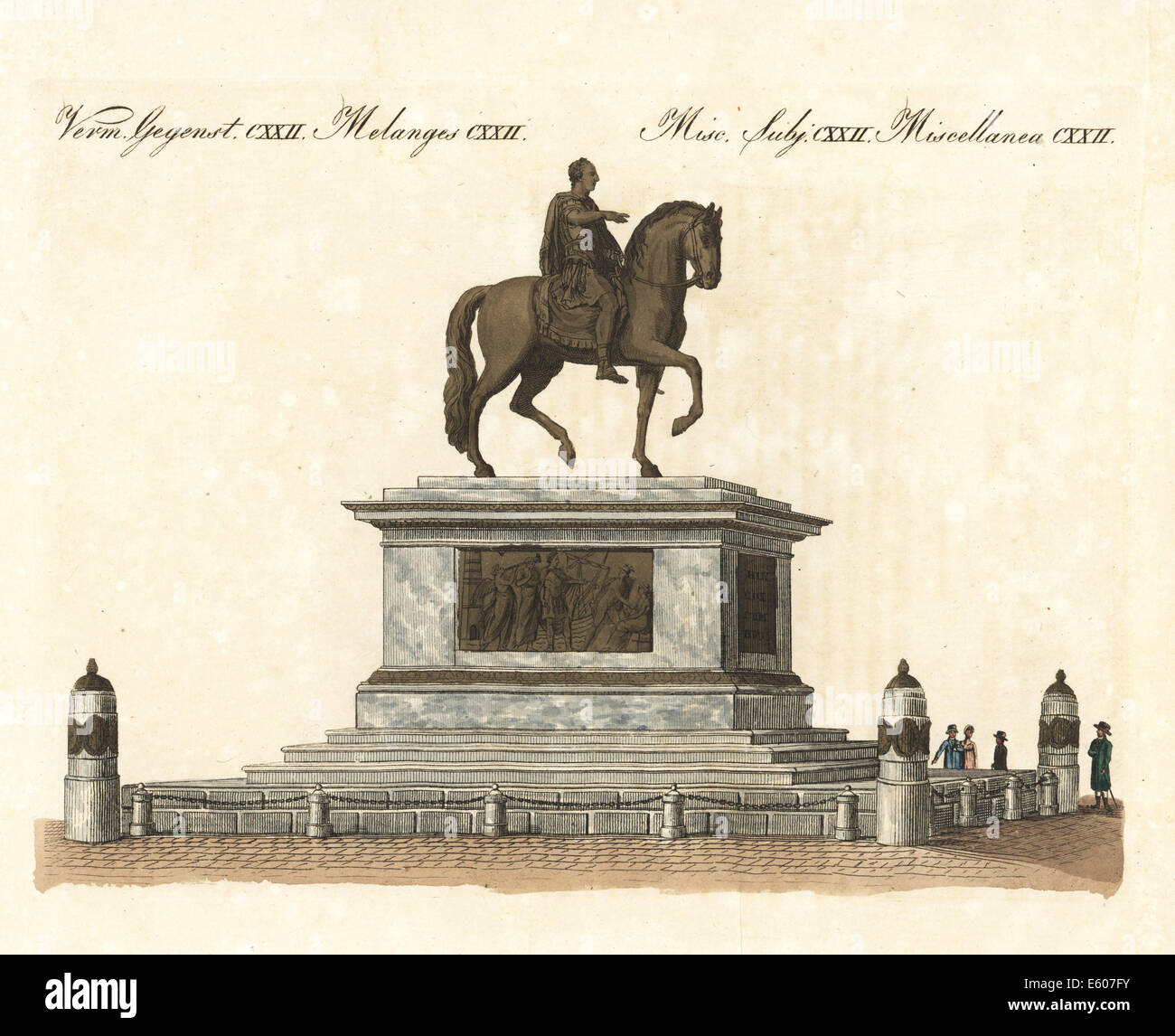 Equestrian statue of the Emperor Joseph II, Vienna, 18th century. - Stock Image