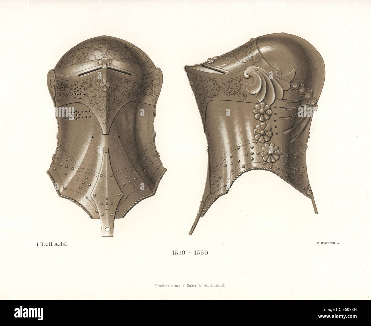 German frogmouth helm, 16th century, used in the Stechen joust. - Stock Image
