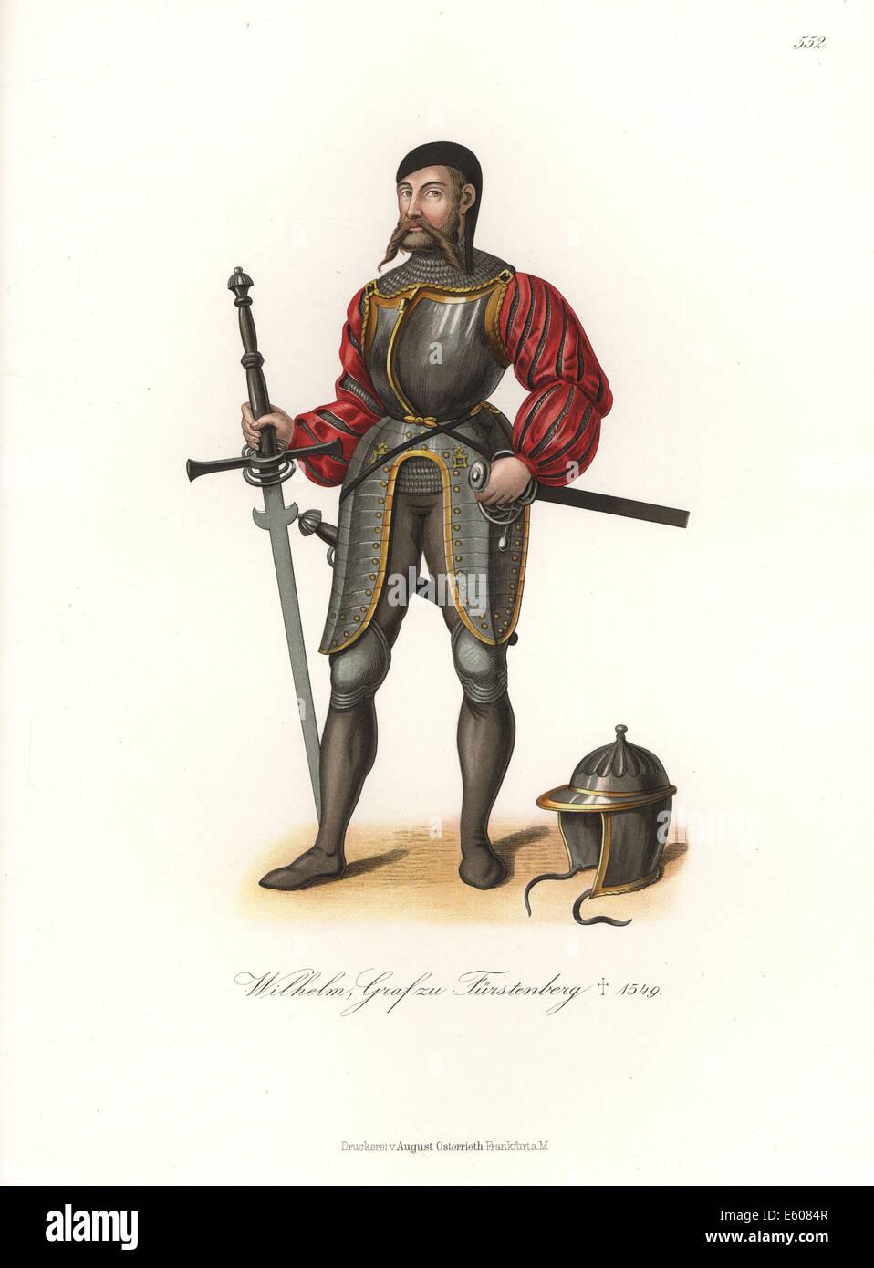 Portrait of William IV, Count of Furstenberg, 1491-1549. - Stock Image