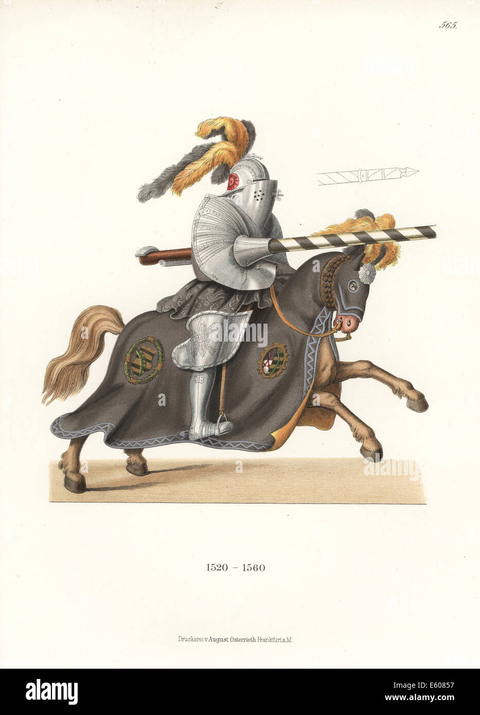 German knight in jousting armour, 16th century. - Stock Image