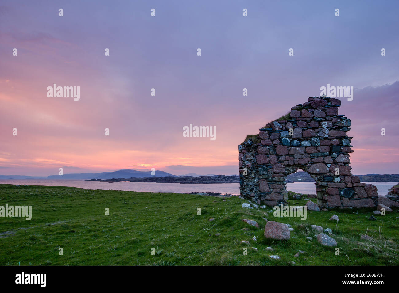Sunrise in Iona - Inner Hebrides of Scotland - Stock Image