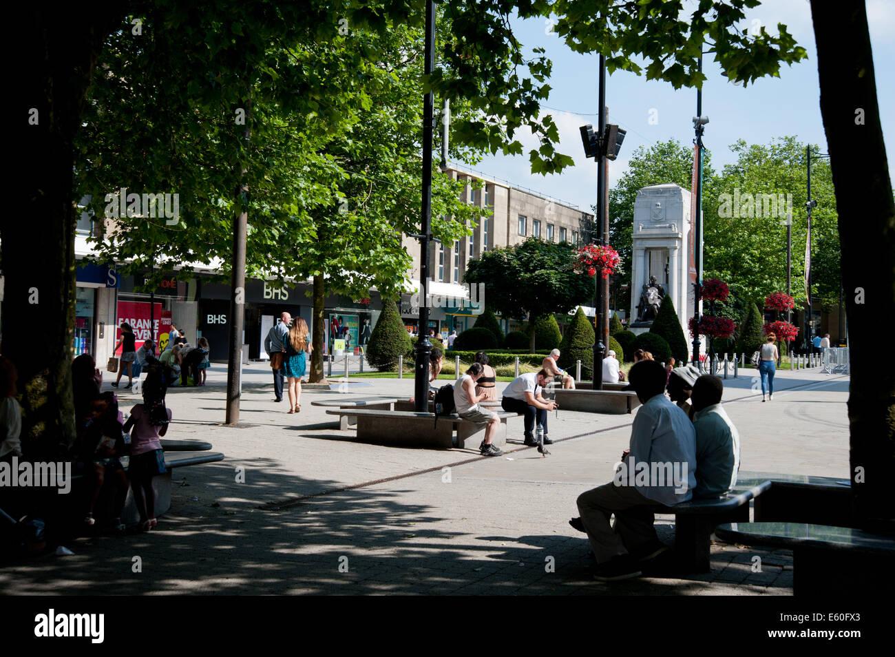 Victoria Square, Bolton, - Stock Image