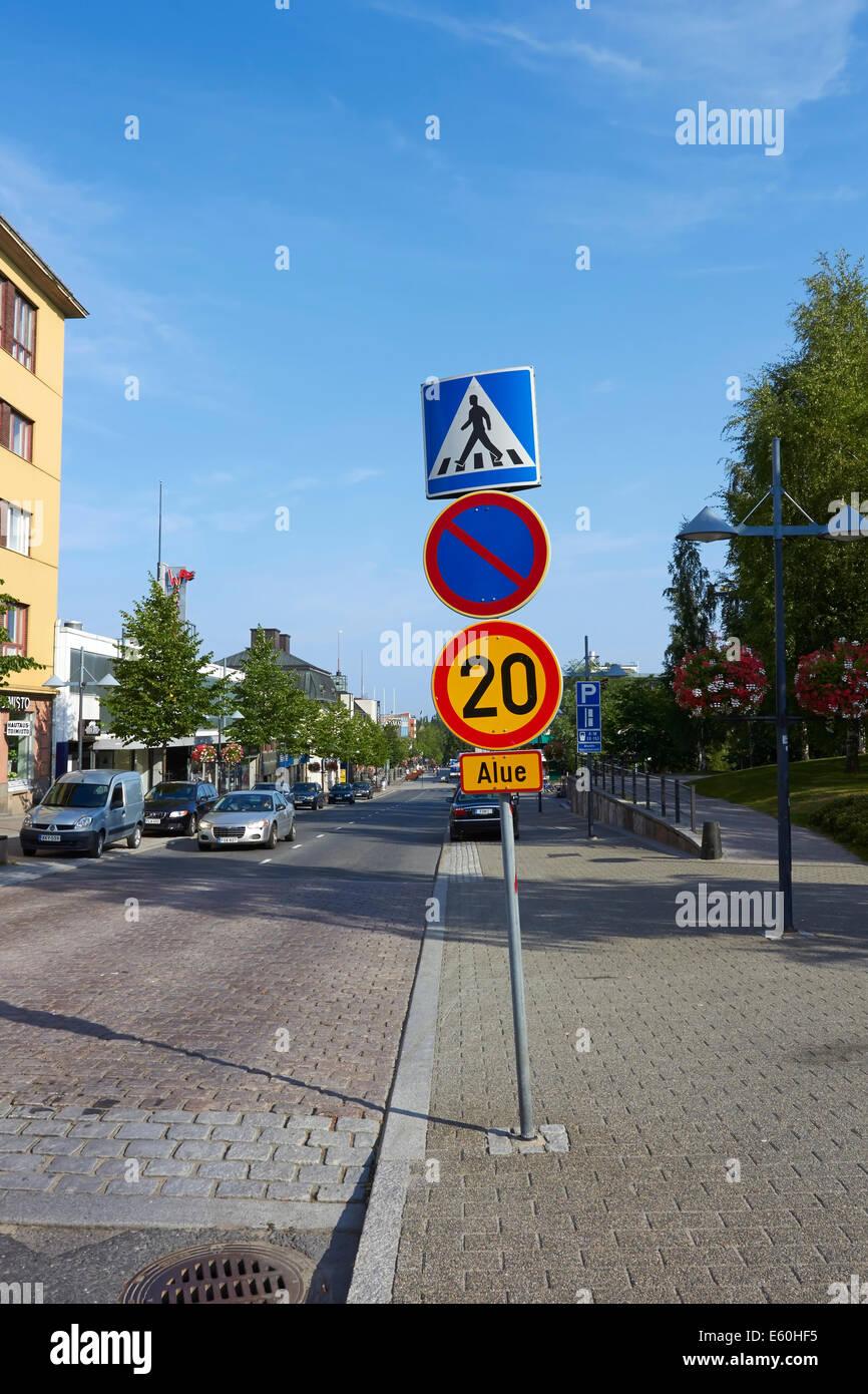 street view, Lappeenranta Finland - Stock Image