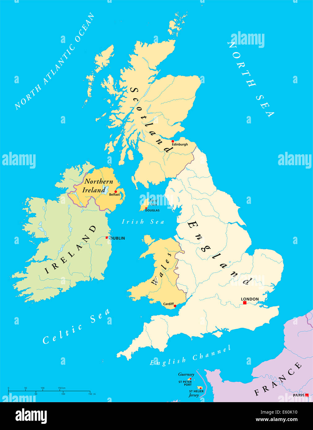Map British Isles British Isles Map   British Isles Map with capitals, national  Map British Isles