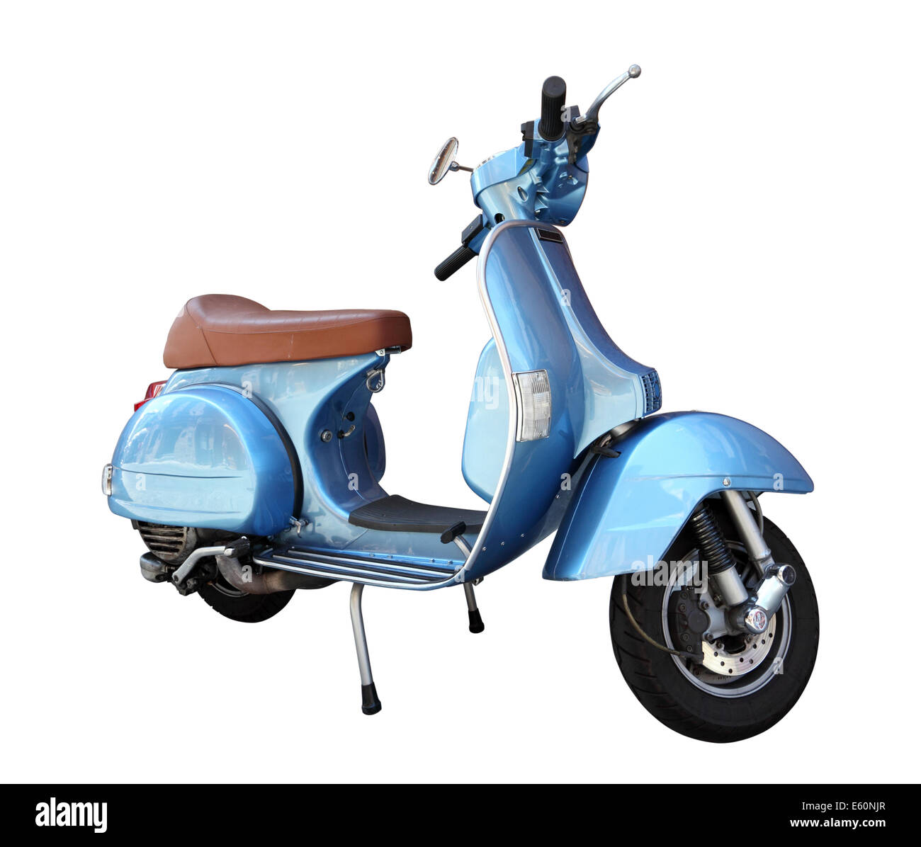 Classic scooter isolated on a white background - Stock Image