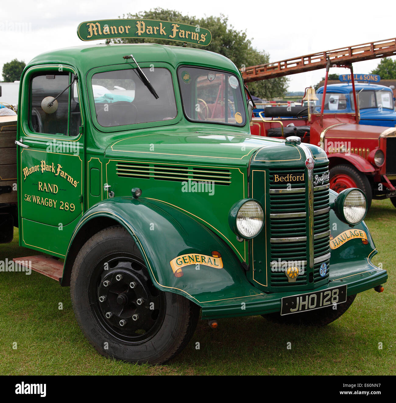 BRITISH VINTAGE BEDFORD TRUCK.  ENGLAND.  UK - Stock Image