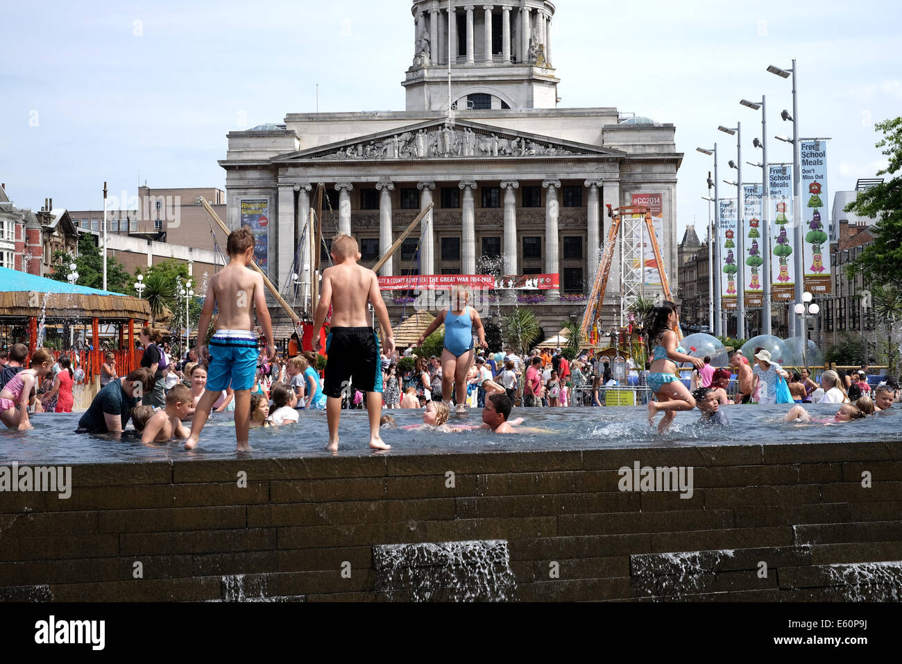 Nottingham City Center ,Summer 2014 . - Stock Image