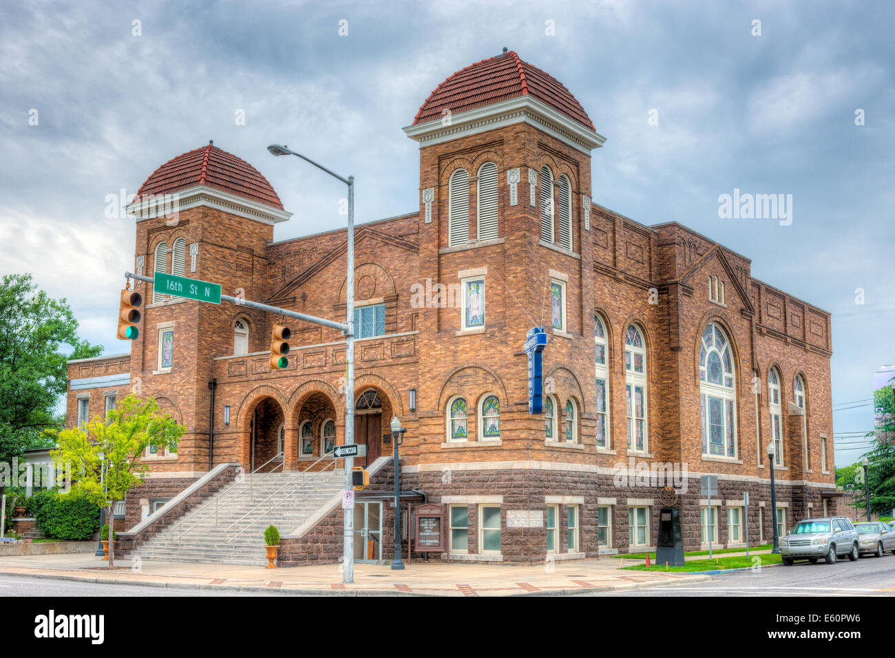 The 16th Street Baptist Church was the site of the racially motivated bombings in 1963 in Birmingham, Alabama. - Stock Image