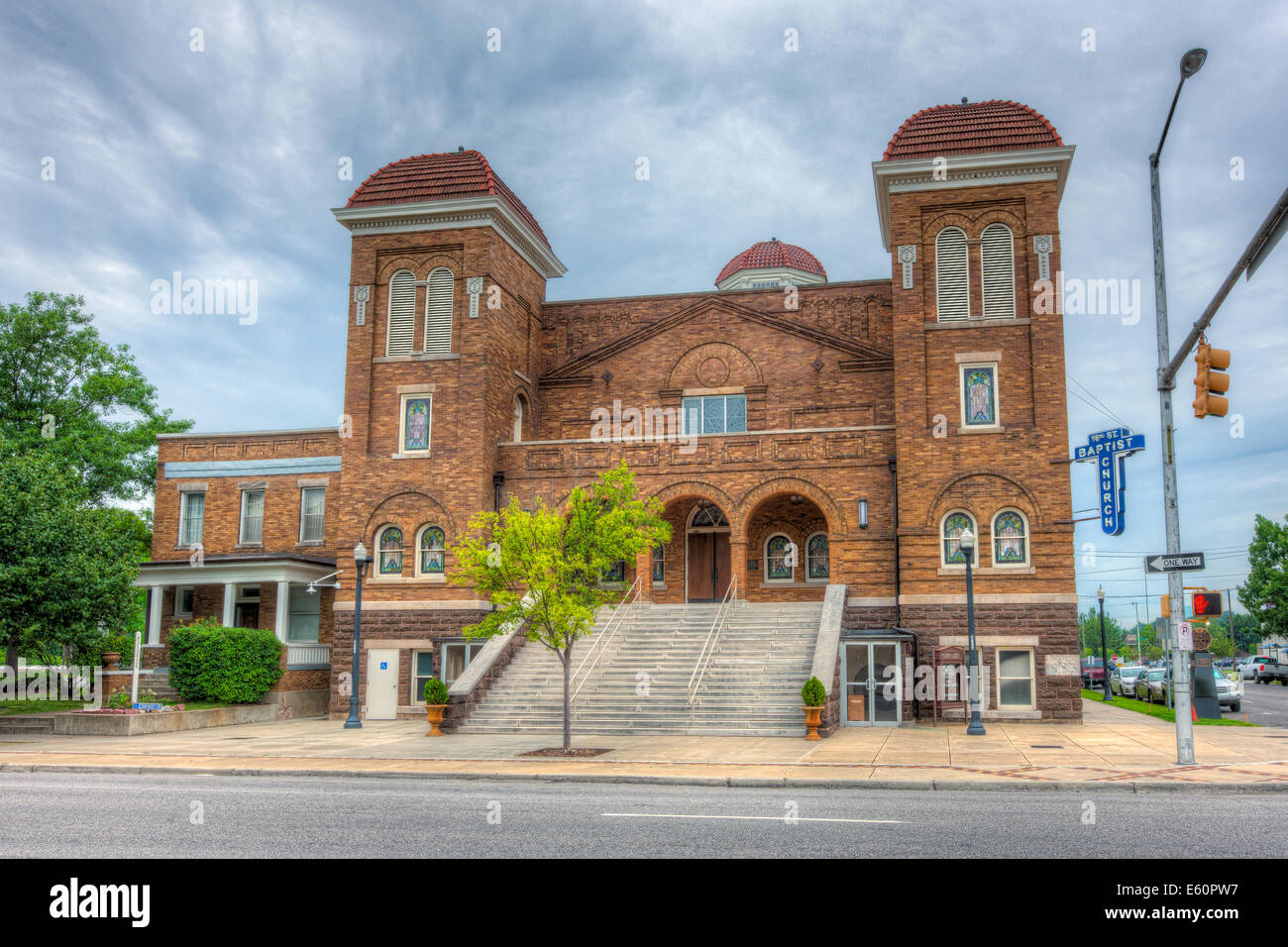 The 16th Street Baptist Church was the site of the racially motivated bombings in 1963 in Birmingham, Alabama. Stock Photo