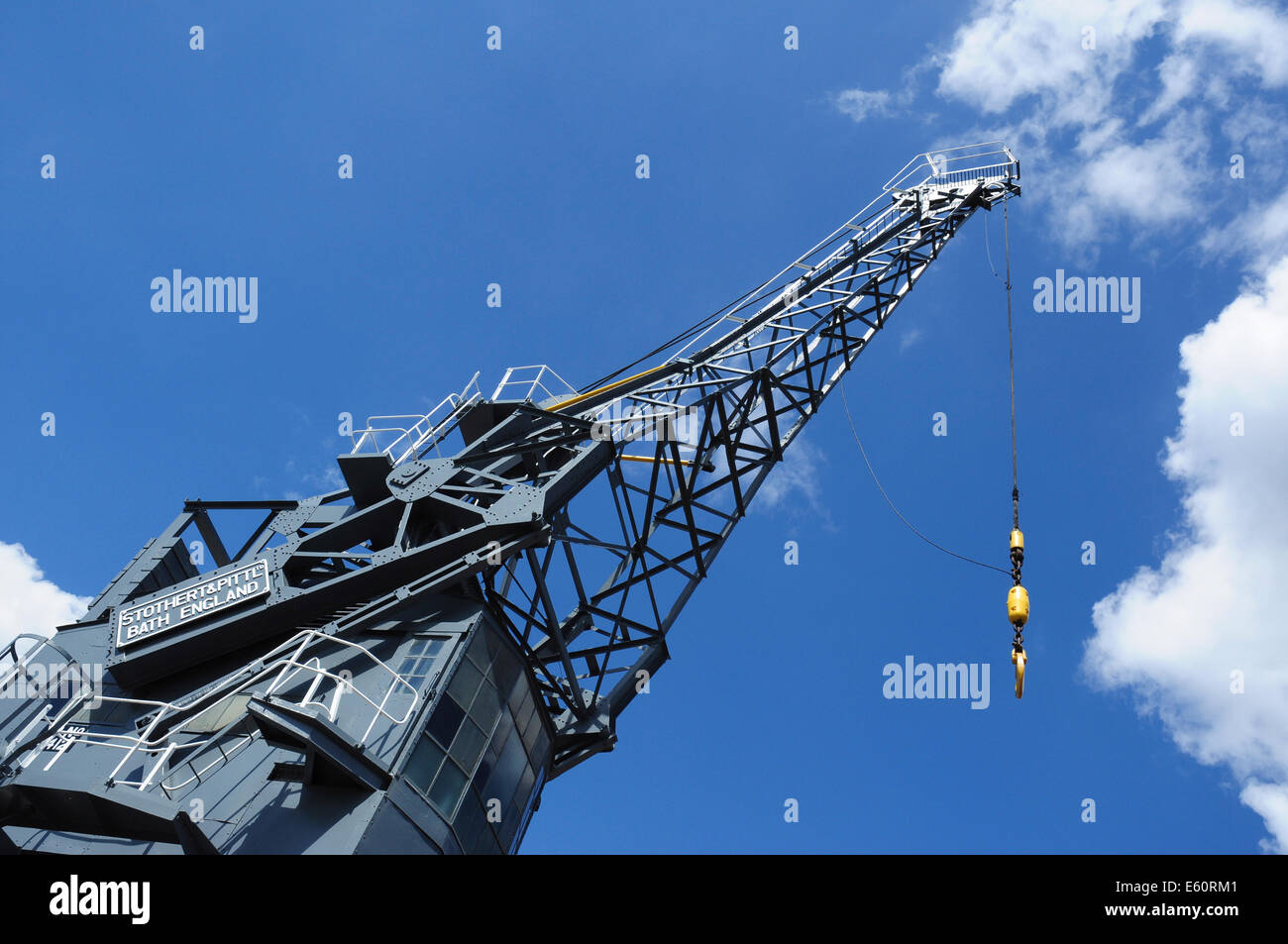 Dockside Crane, Chatham Historic Dockyard, Kent, England, UK - Stock Image